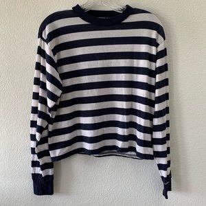 BRANDY MELVILLE Gretchen long sleeve striped shirt